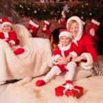 Christmas fireplace — Stock Photo #48412551