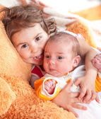 Sister and brother — Stock Photo