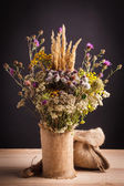 Wildflowers in a vase — Stock Photo