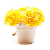 Roses in the bucket — Stock Photo