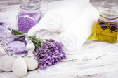 Spa with lavender — Stock Photo