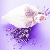 Lavender spa set isolated — Stock Photo