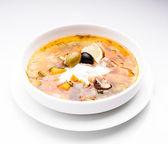 Russian meat soup — Stock fotografie