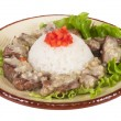 Rice and pork japanese style — Stock Photo