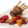 Stock Photo: Gourmet Main Entree Course Grilled Lamb steak
