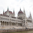 Budapest, the building of the Parliament (Hungary) — Stock Photo