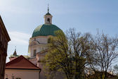 St. Kazimierz Church on New Town Square in Warsaw, Poland — Stock Photo