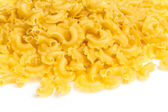 Italian pasta (macaroni) isolated on white background — Stock Photo