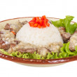 Rice and pork japanese style — Stock Photo #12737955