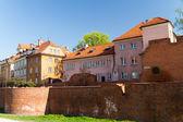 Polonya görülecek. rönesans barbican varşova tarihi kent — Stok fotoğraf