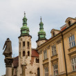 Romanesque church of St Andrew tower in Krakow built between 107 - Stock Photo