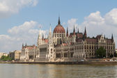 Budapest, the building of the Parliament (Hungary) — Stockfoto