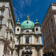 Vienna, Austria - famous Peterskirche (Saint Peter's Church) - 图库照片