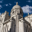 The external architecture of Sacre Coeur, Montmartre, Paris, Fra - 图库照片