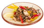 Asian spicy seafood noodle — Stock Photo