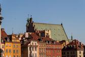 Praça do castelo em varsóvia, polónia — Foto Stock