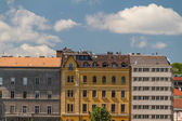 Typical buildings 19th-century in Buda Castle district of Budape — Stock Photo
