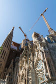 BARCELONA, SPAIN -JUNE 25: Sagrada Familia on JUNE 25, 2012: La — Stock Photo