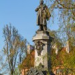 Warsaw, capital city of Poland. Monument of Adam Mickiewicz, the — Stock Photo