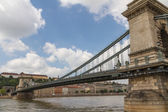Chain Bridge of Budapest, Hungary — Stock Photo