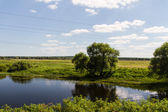 European Summer River Landscape (Russia) — Stock Photo