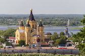 Cathedral of St. Alexander Nevsky. Nizhny Novgorod, Russia — Stock Photo