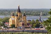 Cathedral of St. Alexander Nevsky. Nizhny Novgorod, Russia — Stock Photo