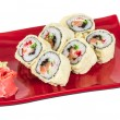 Japanese Cuisine -Tempura Maki Sushi (Deep Fried Roll made of sa — Stock Photo #14158433