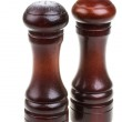 Salt and pepper shakers isolated on the white background — Stock Photo #14158800