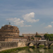 The Mausoleum of Hadrian, known as the Castel Sant'Angelo in Rom — Stok fotoğraf