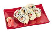 Japanese Cuisine -Tempura Maki Sushi (Deep Fried Roll made of sa — Stock Photo