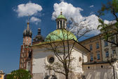 St. James Church on Main Square in Cracow, Poland — Stock Photo