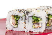 Japanese traditional Cuisine - Maki Roll with Nori , Cream Chees — Stock Photo