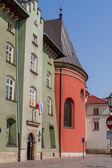 Krakow, polonya eski kasaba evi güzel cephe — Stok fotoğraf