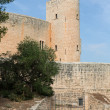 Bellver Castle Castillo tower in Majorca at Palma de Mallorca Ba - Stock Photo