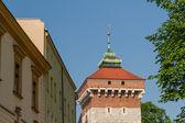 Un cancello a Cracovia - barbican meglio conservati in Europa, Polonia — Foto Stock