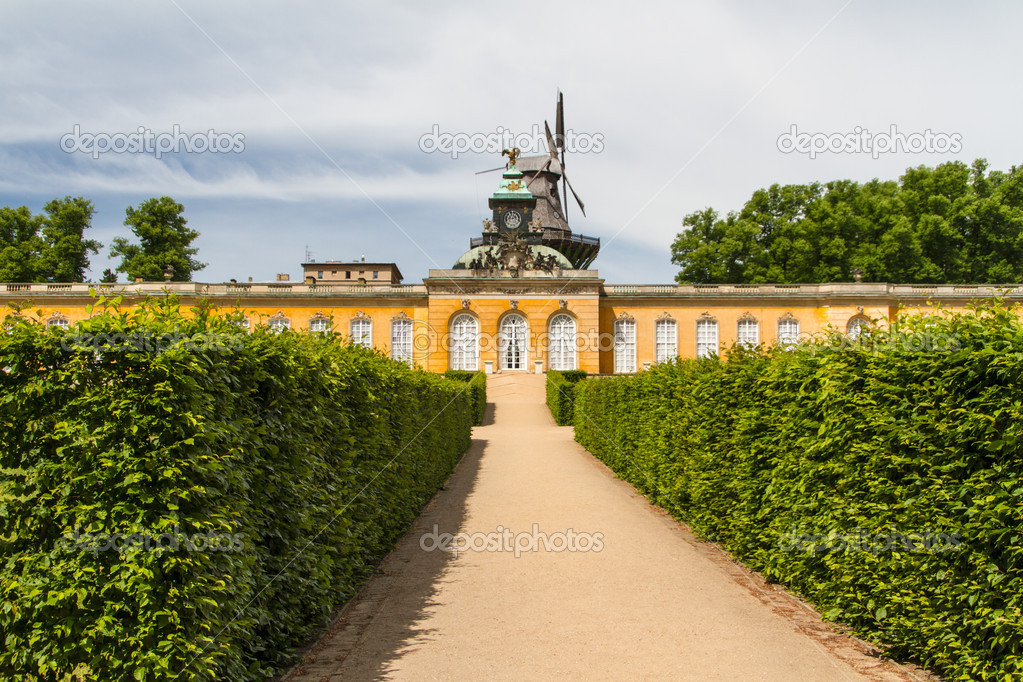 South facade of Sanssouci Picture Gallery in Potsdam, Germany — Stock Photo #15468807