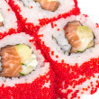 Tobiko Spicy Maki Sushi - Hot Roll with various type of Tobiko ( — Stock Photo #15476239