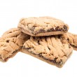 Heap of delicious cookies isolated on white background — Stock Photo #15478955