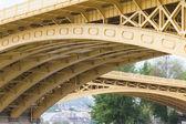 Scenic view of the recently renewed Margit bridge in Budapest. — Stock Photo