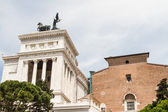 Equestrian monument to Victor Emmanuel II near Vittoriano at day — Stock Photo
