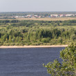 Stock Photo: Great view over VolgRiver in Nizhny Novgorod, Russia