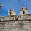 Panoramic view of the Porto Cathedral (Se Porto) - Portugal - Stock Photo