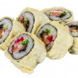 Japanese Cuisine -Tempura Maki Sushi (Deep Fried Roll made of sa — Stock Photo #15493593