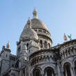 The external architecture of Sacre Coeur, Montmartre, Paris, Fra - Stock Photo