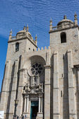 Panoramic view of the Porto Cathedral (Se Porto) - Portugal — 图库照片