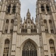 The beautiful Gothic cathedral St. Michael and St. Gudula strivi — Stock Photo