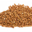 Buckwheat on white background — Stock Photo
