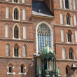 St. Mary's Basilica (Mariacki Church) - famous brick gothic chur — Stock Photo
