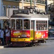 Traditional yellow and red tram — Stock Photo #15505337